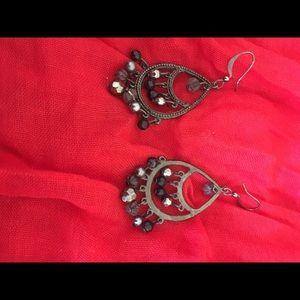Jewelry - Black/silver chandelier earrings